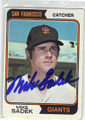 MIKE SADEK SAN FRANCISCO GIANTS AUTOGRAPHED VINTAGE BASEBALL CARD #120114B