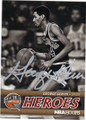 GEORGE GERVIN SAN ANTONIO SPURS AUTOGRAPHED BASKETBALL CARD #120114E