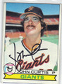 JOHN CURTIS SAN FRANCISCO GIANTS AUTOGRAPHED VINTAGE BASEBALL CARD #120114F