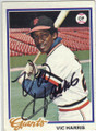 VIC HARRIS SAN FRANCISCO GIANTS AUTOGRAPHED VINTAGE BASEBALL CARD #120114H