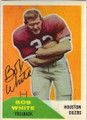 BOB WHITE HOUSTON OILERS AUTOGRAPHED VINTAGE FOOTBALL CARD #120114i