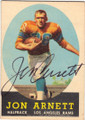 JON ARNETT LOS ANGELES RAMS AUTOGRAPHED VINTAGE ROOKIE FOOTBALL CARD #120114J