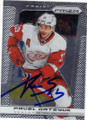 PAVEL DATSYUK DETROIT RED WINGS AUTOGRAPHED HOCKEY CARD #120114K