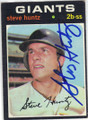 STEVE HUNTZ SAN FRANCISCO GIANTS AUTOGRAPHED VINTAGE BASEBALL CARD #120214L