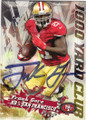 FRANK GORE SAN FRANCISCO 49ers AUTOGRAPHED FOOTBALL CARD #120214Q