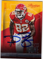 DWAYNE BOWE KANSAS CITY CHIEFS AUTOGRAPHED FOOTBALL CARD #120214S