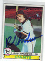 ROB ANDREWS SAN FRANCISCO GIANTS AUTOGRAPHED VINTAGE BASEBALL CARD #120214T