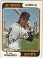 JIM HOWARTH SAN FRANCISCO GIANTS AUTOGRAPHED VINTAGE BASEBALL CARD #120314A