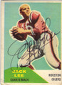 JACK LEE HOUSTON OILERS AUTOGRAPHED VINTAGE ROOKIE FOOTBALL CARD #120314B