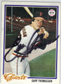 GARY THOMASSON SAN FRANCISCO GIANTS AUTOGRAPHED VINTAGE BASEBALL CARD #120314C