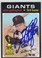 ALAN GALLAGHER SAN FRANCISCO GIANTS AUTOGRAPHED VINTAGE BASEBALL CARD #120414A