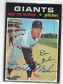 DON McMAHON SAN FRANCISCO GIANTS AUTOGRAPHED VINTAGE BASEBALL CARD #120414D