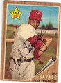 TED SAVAGE PHILADELPHIA PHILLIES AUTOGRAPHED VINTAGE ROOKIE BASEBALL CARD #120514E