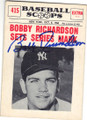 BOBBY RICHARDSON NEW YORK YANKEES AUTOGRAPHED VINTAGE BASEBALL CARD #120514H