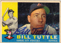 BILL TUTTLE KANSAS CITY ATHLETICS AUTOGRAPHED VINTAGE BASEBALL CARD #120514J