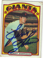 JERRY JOHNSON SAN FRANCISCO GIANTS AUTOGRAPHED VINTAGE BASEBALL CARD #120614A