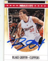 BLAKE GRIFFIN LOS ANGELES CLIPPERS AUTOGRAPHED BASKETBALL CARD #120614F