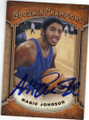 MAGIC JOHNSON AUTOGRAPHED BASKETBALL CARD #120614L