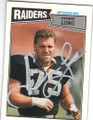HOWIE LONG LOS ANGELES RAIDERS AUTOGRAPHED FOOTBALL CARD #120614M