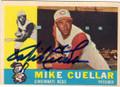 MIKE CUELLAR CINCINNATI REDLEGS AUTOGRAPHED VINTAGE BASEBALL CARD #120614N