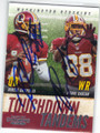 ROBERT GRIFFIN III & PIERRE GARCON WAHSINGTON REDSKINS DOUBLE AUTOGRAPHED FOOTBALL CARD #120614O