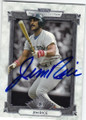 JIM RICE BOSTON RED SOX AUTOGRAPHED BASEBALL CARD #120714L