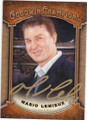MARIO LEMIEUX PITTSBURGH PENGUINS AUTOGRAPHED HOCKEY CARD #120714M
