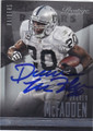 DARREN McFADDEN OAKLAND RAIDERS AUTOGRAPHED FOOTBALL CARD #120914B