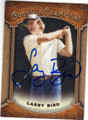 LARRY BIRD BOSTON CELTICS AUTOGRAPHED CARD #120914i