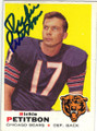 RICHIE PETITBON CHICAGO BEARS AUTOGRAPHED VINTAGE FOOTBALL CARD #121014C