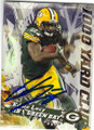 EDDIE LACY GREEN BAY PACKERS AUTOGRAPHED FOOTBALL CARD #121014H