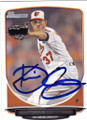 KEVIN GAUSMAN BALTIMORE ORIOLES AUTOGRAPHED ROOKIE BASEBALL CARD #121014K