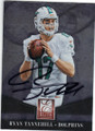RYAN TANNEHILL MIAMI DOLPHINS AUTOGRAPHED FOOTBALL CARD #121014L