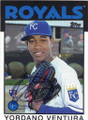 YORDANO VENTURA KANSAS CITY ROYALS AUTOGRAPHED ROOKIE BASEBALL CARD #121014N