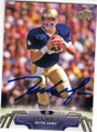 RICK MIRER NOTRE DAME FIGHTING IRISH AUTOGRAPHED FOOTBALL CARD #121014O