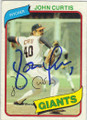 JOHN CURTIS SAN FRANCISCO GIANTS AUTOGRAPHED VINTAGE BASEBALL CARD #121114A