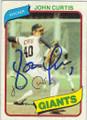 JOHN CURTIS SAN FRANCISCO GIANTS AUTOGRAPHED VINTAGE BASEBALL CARD #121114A