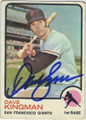 DAVE KINGMAN SAN FRANCISCO GIANTS AUTOGRAPHED VINTAGE BASEBALL CARD #121114E