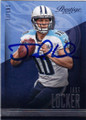 JAKE LOCKER TENNESSEE TITANS AUTOGRAPHED FOOTBALL CARD #121114H