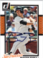 BUSTER POSEY SAN FRANCISCO GIANTS AUTOGRAPHED BASEBALL CARD #121114i