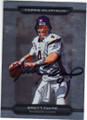 BRETT FAVRE MINNESITA VIKINGS AUTOGRAPHED FOOTBALL CARD #121114J