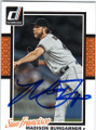 MADISON BUMGARNER SAN FRANCISCO GIANTS AUTOGRAPHED BASEBALL CARD #121314A