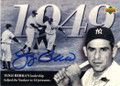 YOGI BERRA NEW YORK YANKEES CATCHER AUTOGRAPHED BASEBALL CARD #121314H