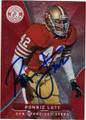 RONNIE LOTT SAN FRANCISCO 49ers AUTOGRAPHED FOOTBALL CARD #121314M