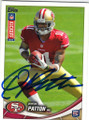 QUINTON PATTON SAN FRANCISCO 49ers AUTOGRAPHED ROOKIE FOOTBALL CARD #121414B