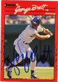 GEORGE BRETT KANSAS CITY ROYALS AUTOGRAPHED BASEBALL CARD #121414C