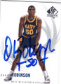 DAVID ROBINSON NAVY MIDSHIPMEN AUTOGRAPHED BASKETBALL CARD #121414F