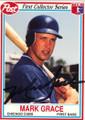 MARK GRACE CHICAGO CUBS AUTOGRAPHED BASEBALL CARD #121414K