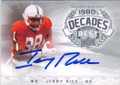JERRY RICE MISSISSIPPI VALLEY STATE AUTOGRAPHED FOOTBALL CARD #121414N