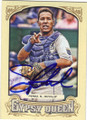 SALVADOR PEREZ KANSAS CITY ROYALS AUTOGRAPHED BASEBALL CARD #121514F